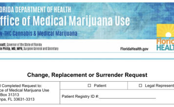 How to change or replace a Florida medical marijuana card