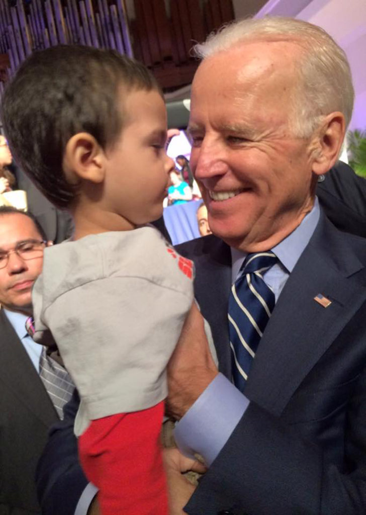 BRUNO AND VICE PRESIDENT JOE BIDEN